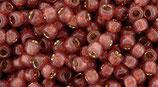 Toho 8/0 - PermaFinish - Silver-Lined Milky Pomegranate (PF2113 †‡)