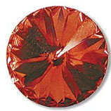 1 Stk. Crystal Padparadscha Foiled 12mm