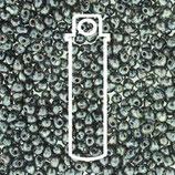 Miyuki Drops 3.4mm - Picasso Smoky - Black Matte (4511)