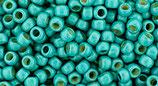 Toho 8/0 - PermaFinish - Frosted Galvanized Turquoise (PF578F †‡)