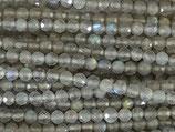 Mineralien·Perlen (1S) - Labradorit - facettiert ~4mm