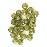 CZ Rondellen (4) - 4mm, Olive