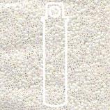 Miyuki Delicas 15/0 - White Pearl - AB (202)