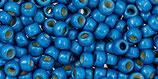 Toho 8/0 - Permafinish - Matte Galvanized Caribbean Blue (PF583F)