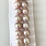 Süsswasserperlen (1P) - Button Golden - 8-8.5mm