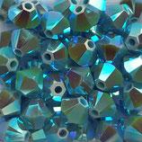 50 Stk. Turquoise AB2x 4mm