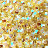 5328 Swarovski (50) - 4mm Yellow - Opal AB2x