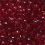 Rondelles (100) - 3x4mm, Deep Red