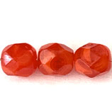 Firepolish Round (50) - 6mm Red Opal