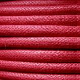 Baumwolle 0.7mm - gewachst Rot