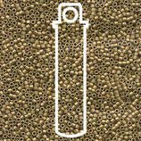 Miyuki Delicas 15/0 - Metallic Olive - Gold Matte (371)