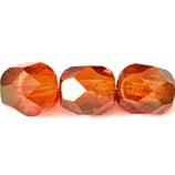 Firepolish Round (50) - 6mm Red/Orange