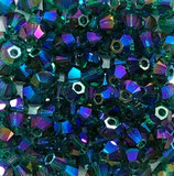 50 Stk. Emerald Shimmer 2x 3mm