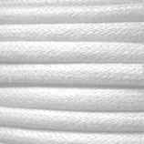 Baumwolle 0.7mm - gewachst Weiss