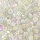 5328 Bicone (50) - 3mm White Opal - Shimmer 2x