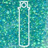 Miyuki Drops 3.4mm - Mint Green·Lined - Lt. Blue (F20)