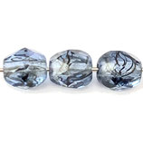 Firepolish Round (100) - 4mm Sapphire - Melange