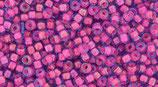 Toho 8/0 - Luminous Lt Sapphire/Neon Pink-Linedz (980)