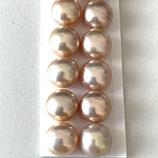 Süsswasserperlen (1P) - Button Metallic - 7-7.5mm