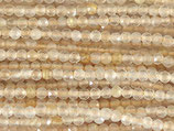 Mineralien·Perlen (1S) - Rutilquarz - facettiert ~1.9mm (870897)