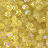 5328 Bicone (50) - 3mm Yellow - Opal Shimmer 2x