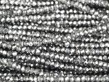 Mini Rondellen (1S) - 1.7x2.5mm Silver - Night 31365