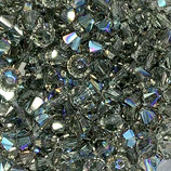 5328 Swarovski (50) - 4mm Black Diamond - Shimmer