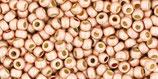 Toho Rocailles 11/0 - PermaFinish Galvanized - Matte Peach Coral  (PF552F †‡)