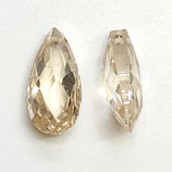 CZ Tropfen (2) - 6x12mm - light champagne