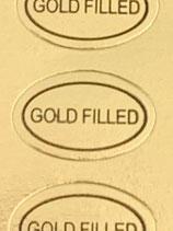 1 Bogen / 100 Sticker - Gold Filled (Oval)