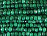Mineralien·Perlen (1S) - Malachit - facettiert ~2.6mm