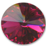 1 Stk. Crystal Fuchsia Foiled 12mm