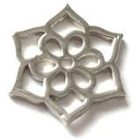 Lotusblüte (1) - ~16mm - versilbert