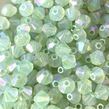 5328 Bicone (50) - 4mm Chrysolite - Opal Shimmer 2x