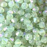 5328 Swarovski (50) - 4mm Chrysolite - Opal Shimmer 2x