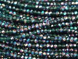 Mini Rondellen (1S) - 1.7x2.5mm Met Purple - Emerald AB 31338