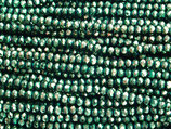 Rondelles (1S) - 3x4mm Metallic Green