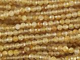 Mineralien·Perlen (1S) - Rutil - facettiert ~3mm