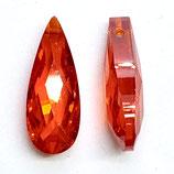 CZ Tropfen (2) - 7x18mm, orangerot