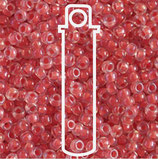 Miyuki Rocailles 11/0 - Pink Lined - Crystal (230)