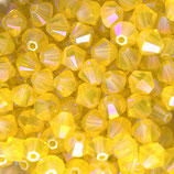5328 Bicone (50) - 4mm Yellow - Opal Shimmer 2x