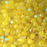 5328 Swarovski (50) - 4mm Yellow - Opal Shimmer