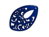 Polaris Ornament (1) - Tropfen 23x36mm - Majestic Blue