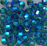 50 Stk. Capri Blue AB2x 3mm