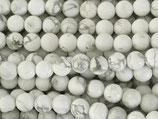 Mineralien·Perlen (1S) - Howlith - glatt ~6.5mm