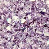 5328 Bicone (50) - 4mm Violet AB