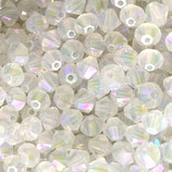 5328 Bicone (50) - 4mm White Opal - Shimmer 2x