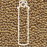 Metal Seed Beads 8/0 - Vergoldet