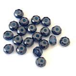 CZ Rondellen (4) - 4mm, Saphir Blau