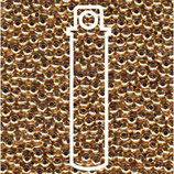 Metal Seed Beads 11/0 - Vergoldet